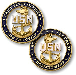 USN Chief Petty Officer - Ask the Chief, Challenge Coin