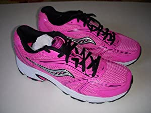 SAUCONY GRID OASIS RUNNING SHOES HOT PINK BLACK WOMENS SZ 10