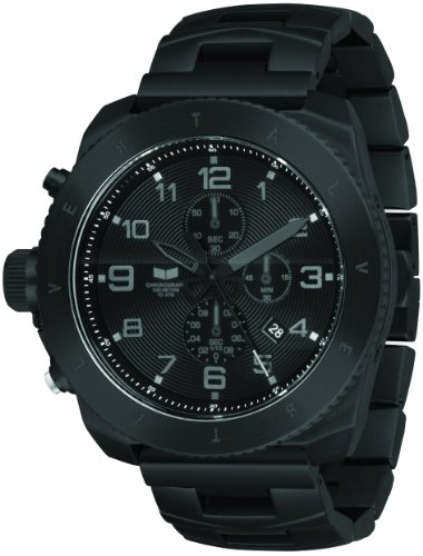 Vestal Men's RES002 Restrictor All Black Chronograph Dive Watch