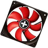 Xilence COO-XPF80.R - Ventilador de PC (Ventilador, Carcasa del ordenador, 8 cm, Negro, Rojo, De plástico, RoHS, CE, FCC)