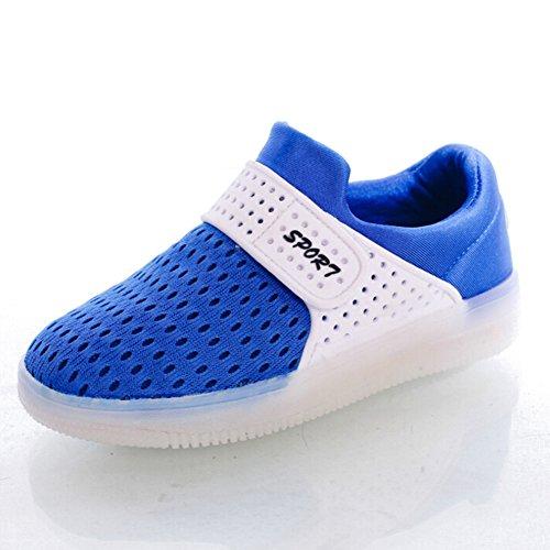 hibote Per bambini leggero Comfort Slip On LED Light Up Shoes ragazzi Blu EU 29