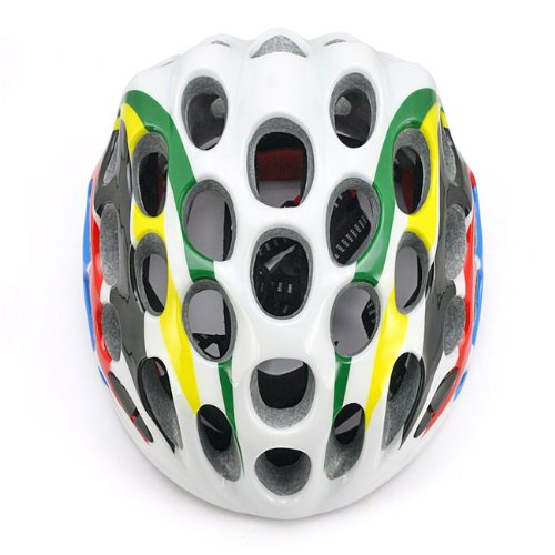 SainStyle Road Racing Cycling Bicycle Bike Helmet with Visor for Adult Colorful RainBow