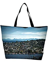 Snoogg Abstract City Designer Waterproof Bag Made Of High Strength Nylon - B01I1KO2BI