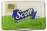 Scott Tissue Naturals Moist Cleansing Cloths Refill Bags and Tub, 391 Count