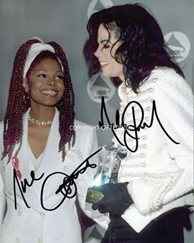 Limited Edition Michael and Janet Jackson signed autograph photo