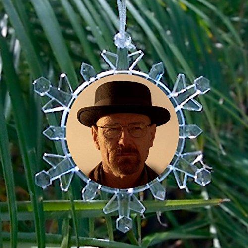 Breaking Bad Heisenberg Meth Flake Snowflake Multi Color Blinking Holiday Christmas Tree Ornament