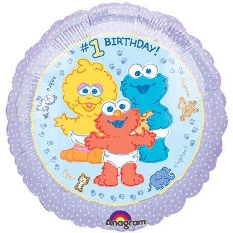 "18"" Sesame Beginnings Birthday - 1"