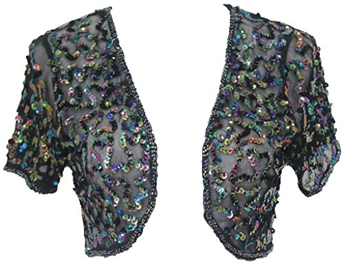 Alivila.Y Fashion Women Sequins Short Sleeve Shrug 3052