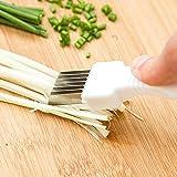New Vegetable Shredder Fruit Onion Cutter Slicer Peeler Chopper Kitchen Gadget Tool Scallion Knife Shred Tools Slicer Cutlery White