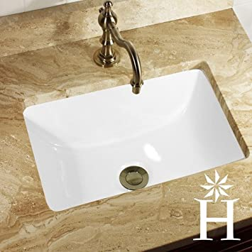New Highpoint Collection Rectangle Ceramic Undermount Vanity Sink