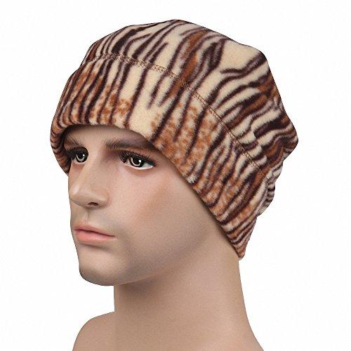 Maoko Fleece Watch Cap/ Winter Warm Hat/ Daily Slouchy Beanie Skull Cap KhakiZebra (Monster Energy Pom Beanie compare prices)