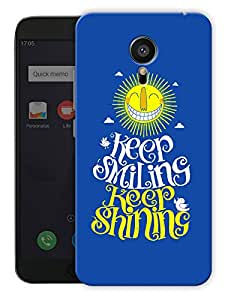 "Humor Gang Keep Smiling Keep Shining Printed Designer Mobile Back Cover For ""Meizu Mx5"" (3D, Matte, Premium Quality Snap On Case)"