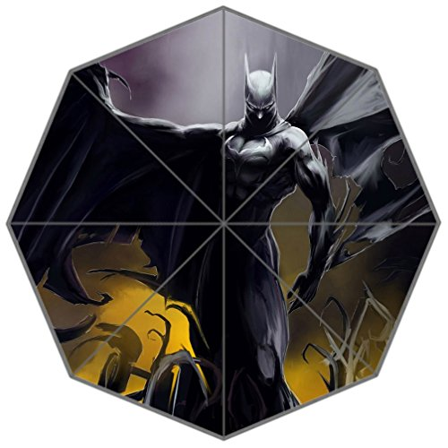 DONGMEN Superhero Batman Portable Outdoor Travel Durable Foldable Rainy/Sunny Umbrella