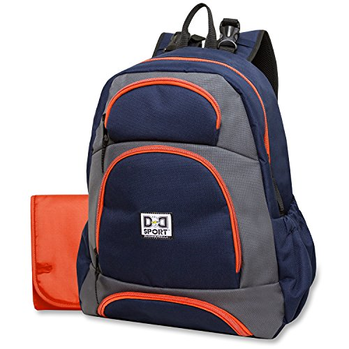 Diaper Dude Sport Backpack Diaper Bag by Chris Pegula - Navy/Grey Colorblock - 1