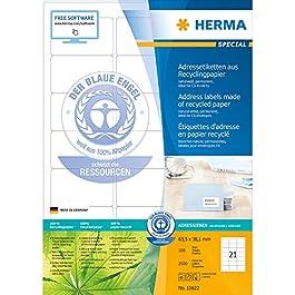 Herma 10822 Étiquettes d'adresse en papier recyclé avec