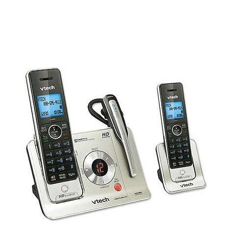 Vtech Dect 6.0 Expandable Cordless Phones With Headset, Talking Caller Id And Digital Answering System
