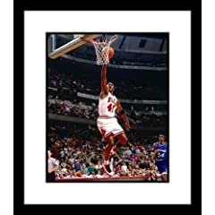 Michael Jordan Chicago Bulls NBA Framed 8x10 Photograph Dunking Red Jersey vs Orlando... by NBA