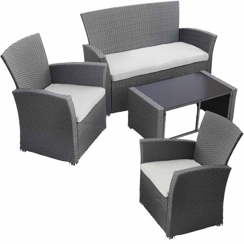 jago rtsf01grau rattansofa set inkl sitzkissen grau exclusive gartenm bel gartenmobel. Black Bedroom Furniture Sets. Home Design Ideas
