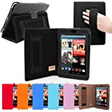 Snugg Nexus 7 Case - Smart Cover with Flip Stand & Lifetime Guarantee (Black Leather) for Google Nexus 7 (2012)