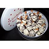 "White Chocolate Caramel Crunch Pretzel Gems--16oz. Tin (Misc.) By Great American Pretzel Co.          Click for more info          First tagged ""sweetest day"" by Just a shopper ""giving my 2 cents!"""