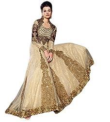 Justkartit Women's Net Long Anarkali Style Wedding Wear Gown (Special 2016 Collection)