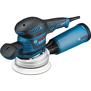 Bosch Professional GEX 125-150 AVE, 400 W Nennaufnahmeleistung, 150 mm Schleifteller-Ø, 4 mm Schwingkreis-Ø, Zusatzhandgriff, L-BOXX, Microfilter Box