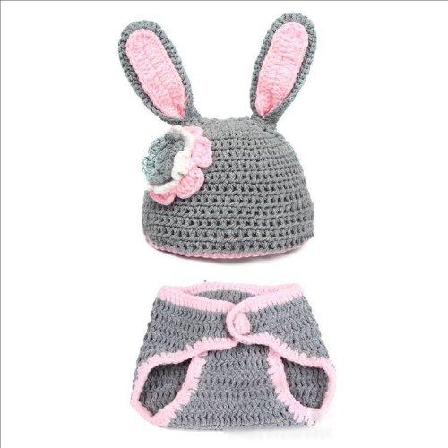 2Pcs Set Newborn Girl'S Warm Hat+Pants Bunny Clothes Outfit Suits front-515296