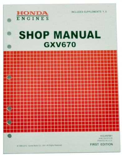 Honda Gxv670 Engine Service Repair Shop Manual