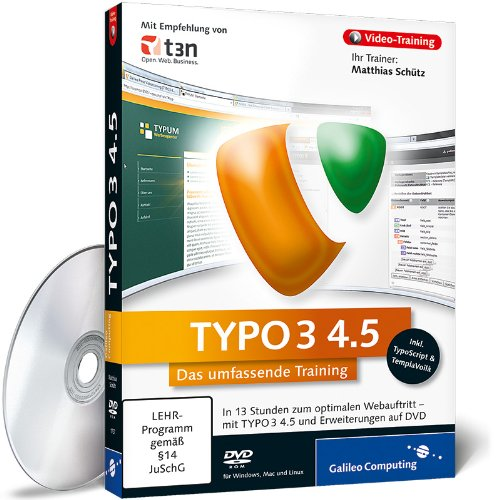 TYPO3 4.5 - Das umfassende Video-Training