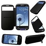 Stuff4® Samsung Galaxy S4 Negro Carcasa Funda con Bateria Integrada - Externa Cargador