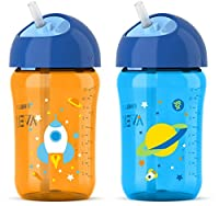 Philips Avent My Twist N Sip Straw Cup Blue/Orange, 12 Ounce , Stage 3 from Philips AVENT