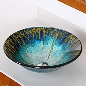 Enchantment Hand Painted Glass Bowl Vessel Bathroom Sink ...