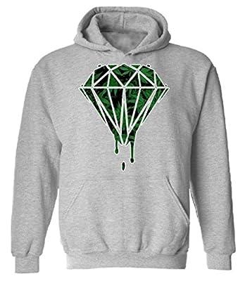 icustomworld Diamond Marijuana Hoodie Cannabis Weed Hooded Sweatshirt