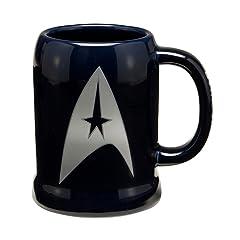 Vandor LLC 80879 Star Trek 20-Ounce Ceramic Stein, Blue