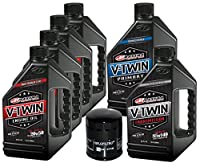 MaximaHiflofiltro VTTOCK12 Complete Engine Oil Change Kit for V-Twin Full Synthetic Harley Davidson Twin Cam, 6 quart from MaximaHiflofiltro