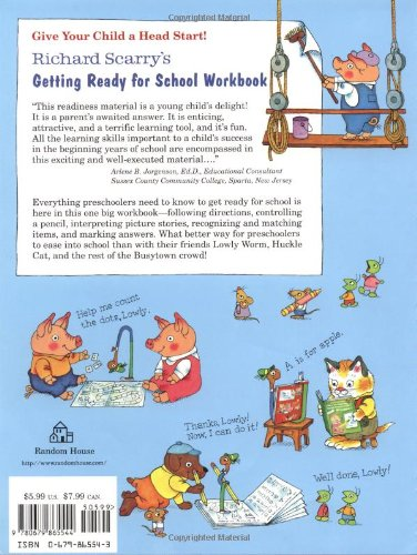 Richard Scarry's Getting Ready for School Workbook