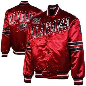 NCAA Alabama Crimson Tide Dash Full Button Satin Jacket - Crimson by G-III Sports