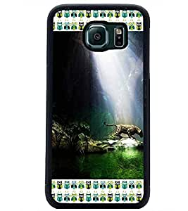 PrintDhaba Leopard D-4129 Back Case Cover for SAMSUNG GALAXY S6 (Multi-Coloured)