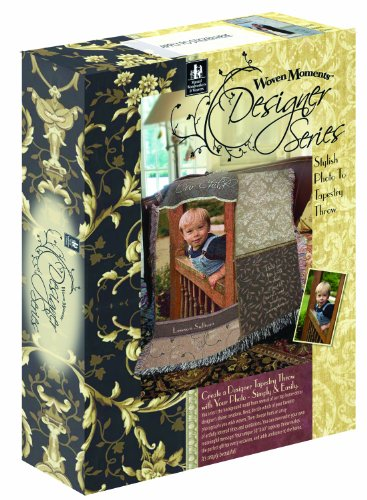 Manual Woven Moments Photo To Tapestry Kit Designer Series Throw Blanket front-925358