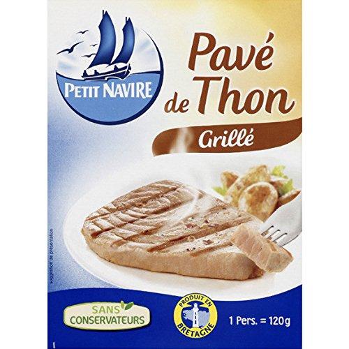 Petit Navire - Pavé de thon grillé Sans conservateurs - Le sachet de 120g - (pour la quantité plus que 1 nous vous remboursons le port supplémentaire)