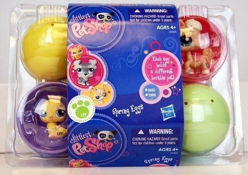 littlest-pet-shop-26665-exclusive-easter-eggs-6-pack-incl-frog-1991-pony-1992-caterpillar-1993-cat-1