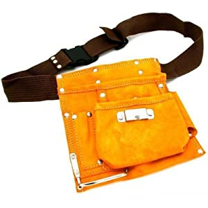 heavy duty leather tool belt construction