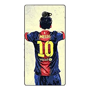 Jugaaduu Barcelona Messi Back Cover Case For Sony Xperia M2