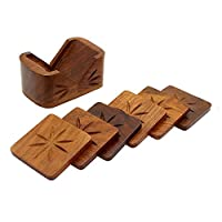 Dolphy Wooden Kite Shaped Tea and Coffee Coaster Set