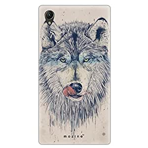 Mozine Hungry Wolf printed mobile back cover for Sony xperia z4