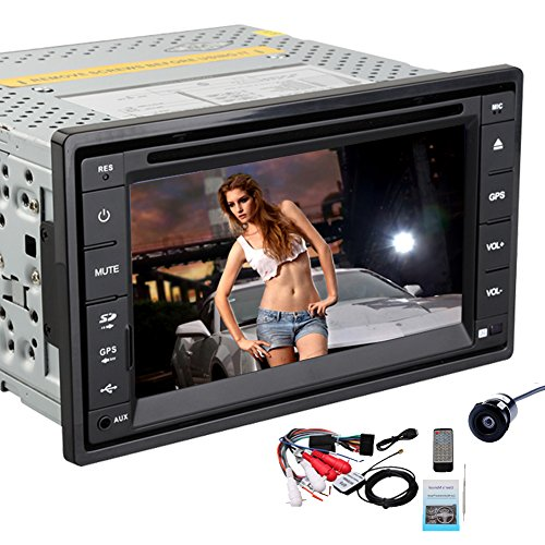 Pupug 6.2 Inch Double Din in Dash GPS Car DVD Player USB Sd Bluetooth Tv Pc Radio Navigation Camera (style 1)
