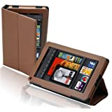 splash SAFARI Slim-Profile Leather Case Cover fits the Amazon Kindle FIRE with Stand BROWN ~ Splash