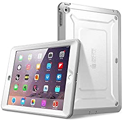 SupCase Beetle Defense Series for Apple iPad Mini with Retina Display (2nd Gen) Full-body Hybrid Protective Case with Built-in Screen Protector (White/Gray) - Dual Layer Design/Impact Resistant Bumper (Also Compatible with iPad Mini 1st Generation)