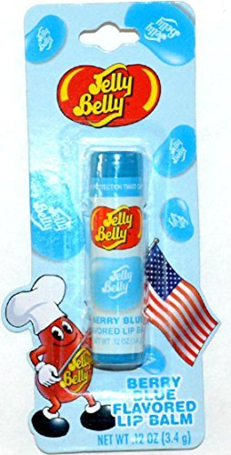 Jelly Belly Berry Blue Flavored Lip Balm .12 oz (Jelly Belly Plush Pillow compare prices)