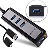 [USB3.0 Hub + OTG Adapter] Inateck 4-refuge USB 3.0 Hub Bus-powered with OTG Adapter fits Laptops, Ultrabooks and Capsule Pcs and Android Phone and Tabs [Samsung Galaxy S2/ S3/ S4/ NOTE/ NOTE2/ Tabs, Nexus, LG Phone, Sony Phone, HTC Phone]